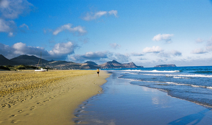 Relaxing Porto Santo beach walk