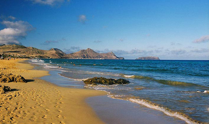 Eastern view from Porto Santo beach