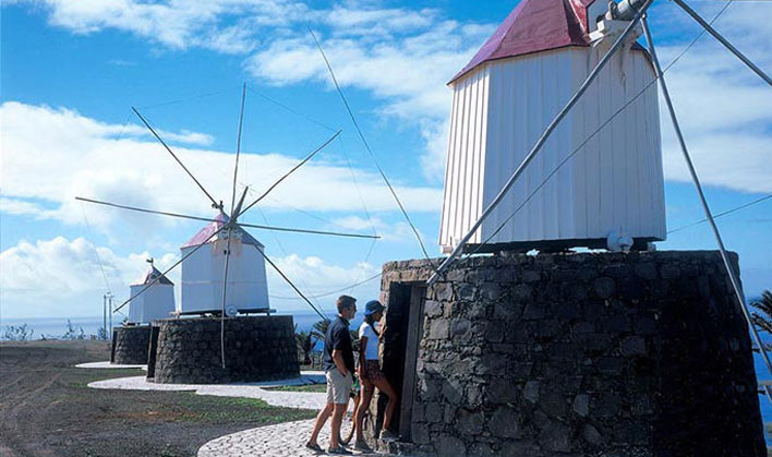 The famous Porto Santo windmills